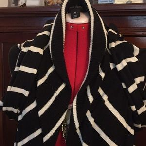 Black & White Cardigan sweater, worn once, size M